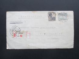 Niederländisch Indien 1935 R-Brief Medan Mdn 51 / Sumatra - Stadtoldendorf. 2 Fach Gesiegelt. Siegel Mit Krone!! - Nederlands-Indië