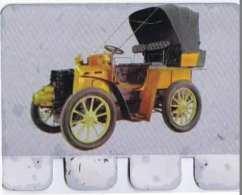PLAQUETTE EN TOLE L AUTO A TRAVERS LES AGES  EDITION COOP PANHARD TYPE B1 1899 - Advertising (Porcelain) Signs