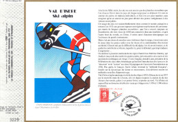 Sur Feuillet CEF , FDC 1991 Val D'Isère .  Ski Alpin . - Inverno1992: Albertville