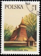 POLAND - Scott #2243 Church, Debno (*) / Used Stamp - Kirchen U. Kathedralen