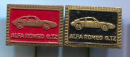 ALFA ROMEO GTZ - Car Auto, Automobile, Vintage Pin, Badge, Lot 2 Pieces - Alfa Romeo