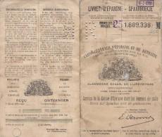 Bruxelles - Brussel / Livret D´ épargne - Spaarboekje / Brussel / 1929-1962 - Historische Documenten