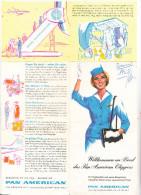 PAN AMERICAN - Jet Clipper Falt - Werbung, 1962 - Sonstige