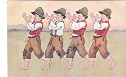 Carte Postale Ancienne Illustrée - éditions BKWI - Petits Autrichiens? - Vers 1900 - Illustrateurs & Photographes