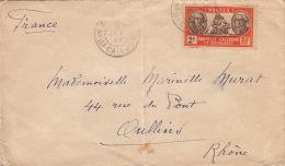 1940- Nouvelle Calédonie 2F Seul Sur Lettre>> France - Nueva Caledonia
