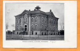 Laramie WY Public School 1905 Postcard - Laramie