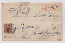 Am. Uruguay LA PAZ 1894-05-02 R-Brief Mit AR Nach Luganomit AK-Stempel Monteggio - Uruguay