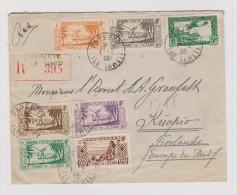 OZ Tahiti 1935-02-01 Papeete Ile Tahiti R-Brief Nach Kuopio Finland - Tahiti