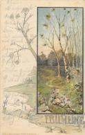 Frühling - Die 4 Jahreszeiten Künstlerkarte Nr 1 - Arbres