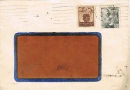 15941. Carta BARCELONA 1944. Recargo Exposicion. Rodillo Patriotico - Barcelona