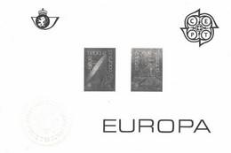 Zwart-Wit Velletje Met Droogstempeling - Europa-CEPT