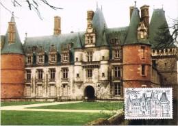 15949. Tarjeta Maxima MAINTENON (France) 1980. Chateau - Cartas Máxima