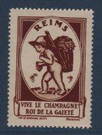 Reims - Vive Le Champagne - Roi De La Gaiete - Commemorative Labels