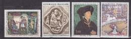 N° 1586 à 1589 Oeuvres D´Art: Cathédrale Amiens Ph; Le Bon Abbaye St-Servin Le Cirque De Seurat :Timbres Neuf - Unused Stamps