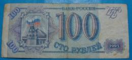 RUSSIA 100 RUBLES 1993, VF. - Russia