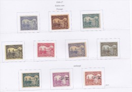 NOUVELLE CALEDONIE 1896 1927 TIMBRES TAXES 16/25 MLH MNH - Timbres-taxe