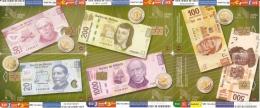 PUZZLE DE 6 TARJETAS DE MEXICO DE MONEDAS Y BILLETES (MONEDA-COIN-BILLETE-BANKNOTE) - Sellos & Monedas