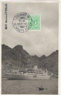 CONGO PAQUEBOT  ALBERTVILLE-6  - Couuier De Haute Mer  - Griffe M/V ALBERTVILLE -1955 - PAQ - 1947-60: Lettres