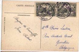 CONGO PAQUEBOT  ELISABETHVILLE-2 Et Griffe Dateur Violette 22 Juin 1939 - RRR - Vers Belgium - PAQ - Congo Belge