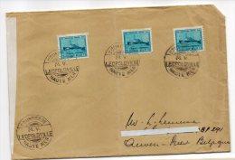 CONGO PAQUEBOT  LEOPOLDVILLE-6 - Courrier De Haute Mer Vers  Belgium - PAQ - 1947-60: Lettres