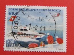 ITALIA USATI 2001 - CORPO DELLE CAPITANERIE DI PORTO - SASSONE 2554 - RIF. G 1902 LUSSO - 6. 1946-.. Repubblica