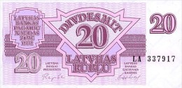 Latvia 20 Rublis  1992  Pick 39 UNC - Latvia