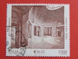ITALIA USATI 2001 - DOMUSD AUREA ROMA - SASSONE 2556 - RIF. G 1905 LUSSO - 6. 1946-.. Repubblica