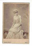 PHOTOGRAPHIE, Alice Marot , Phot. Benque  ,   Format Cabinet ( Daté 1879 ) - Foto's