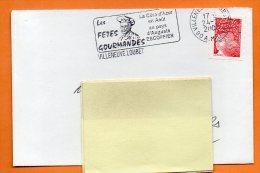 06 VILLENEUVE LOUBET  LES FETES GOURMANDES  AUGUSTE ESCOFFIER   24 / 1 / 2000 Lettre Entière N° K 734 - Postmark Collection (Covers)