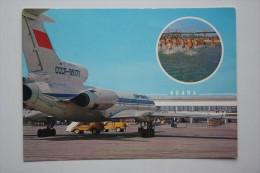OLD USSR AIRPORT PLANE  Postcard Anapa Aeroport  1986 Stationery Postcard - Aerodrome