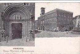 Italy Perugia Palazzo Municipale e Porta principale