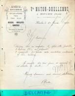 Factuur Facture - Epicerie - Vve Maton - Dhellemme - Mouchin 1923 - France