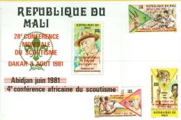 Mali 1981 4th Conference Mondiale Du Scautisme Dakar MNH** - Lot. B211 - Mali (1959-...)