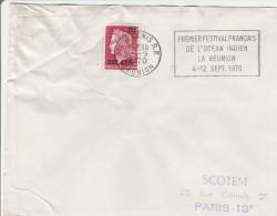 Saint-Denis RP Réunion 1970 - Flamme Festival Océan Indien - !! Enveloppe Froissée - Lettres & Documents