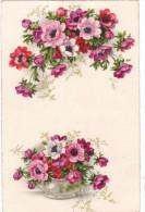 Carte Postale Ancienne - Fantaisie - Fleurs - Anémones - Fantaisies