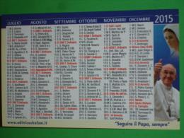 Calendarietto Anno 2015 - PAPA FRANCESCO - MADONNA MEDJUGORJE - SACRO CUORE Gesù - Libreria S.Paolo,Bergamo - Calendari