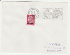 Saint-Denis Réunion 1970 - Flamme Festival Théâtre En Plein Air - Lettres & Documents