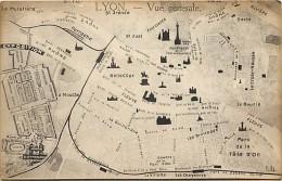 - Departs Divers - Ref- DD274 - Rhone - Lyon - Plan Guide Vue Generale - Carte Bon Etat - - Andere
