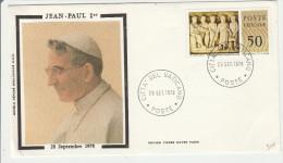 Jour Mort Pape Jean-Paul 1er Papa Pope - 28 Septembre 1978 - - Marcophilie - EMA (Empreintes Machines)