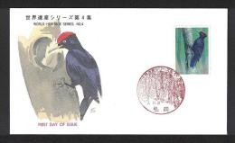 Japan FDC 1995.11.21 4th World Heritage Series, Black Woodpecker - FDC