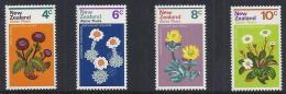 FLORES - NEW ZELAND 1972 -Yvert  567/70** Precio Cat€7.50 - Vegetales