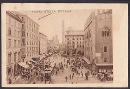 Italien Bologna Hotel Stella 'd Italia Straßenbahn Tram 1931 - Bologna