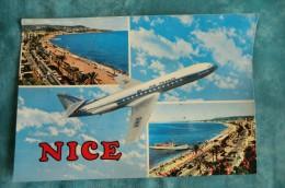 CPA AVION. Caravelle Au Dessus De Nice. Compagnie AIR FRANCE. - 1946-....: Ere Moderne