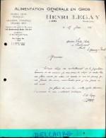 Factuur Facture - Alimentation Henry Legay - Lens 1941 - Alimentaire