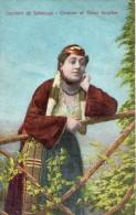 SOUVENIR DE SALONIQUE COSTUME DE DAME ISRAELITE (THEME JUDAICA) CARTE COLORISEE - Grèce