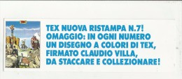97890 SEGNALIBRO TEX  WILLER - Libri, Riviste, Fumetti