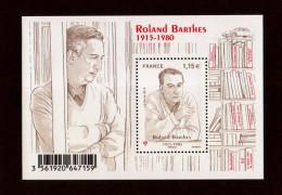 "2015  Feuillet N° "" Roland Barthes "" Neuf** NON PLIE (faciale: 1.15€) - Ongebruikt"