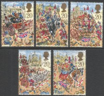 Great Britain. 1989 Lords Mayor´s Show, London. Used Complete Set. SG 1457-1461 - 1952-.... (Elizabeth II)