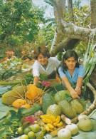 Micronesia Rota Beautiful Girls Selling Papaya Soursop Avocado Star Apple And Oranges - Micronesia