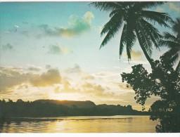 Micronesia Eastern Caroline Islands Ponape Sohkes Rock At Sunset - Micronesia